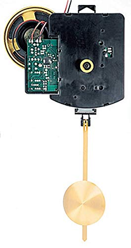 Funkpendelwerk FW mit Schlag von Selva - Ideal als Ersatz-Uhrwerk mit vollelektronischem besonders kräftigem Schlag. 3 wählbare Schlagarten - German Technology- für die Zeigerwerkslänge 12 mm