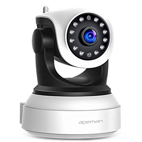 Apeman IP Kamera WLAN Kamera Überwachungskamera 1080P, Bewegungserkennung,2 Wege Audio,Smart Home Kamera,schwenkbar und unterstützt Mikro-SD Karte