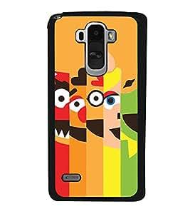 Cartoon Faces 2D Hard Polycarbonate Designer Back Case Cover for LG G4 Stylus