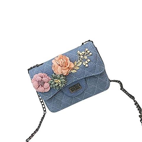 TPulling Frauen-Neue Art- Und Weisefeste Stilvoll Raffiniert Applique Floral Abziehbilder Schultern Handtasche Handy Tasche
