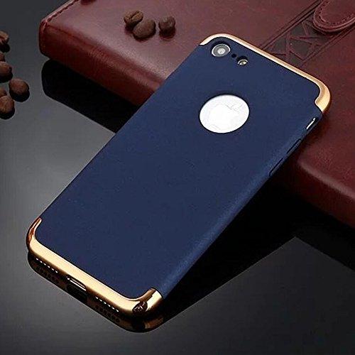 """Coque iPhone 7 Plus, Aohro 3 en 1 Hybride Ultra Mince Plating en PC [Dual Protection] Absorption de choc Anti-scratch Housse Etui Case Cover Pour Apple iphone 7 Plus 5.5""""-Or rose Bleu"""
