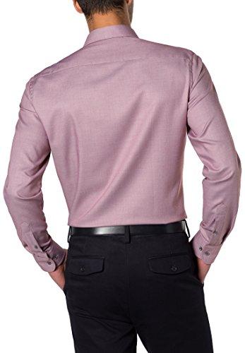 eterna Herren Businesshemd Slim Fit Langarm Strukturiert mit Hai-Kragen Rot (Rot 56)