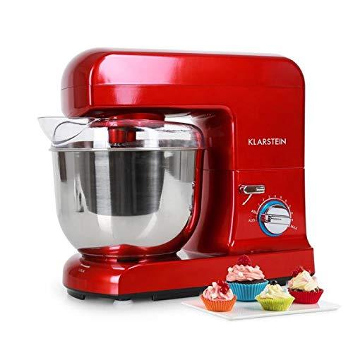 Klarstein Gracia Rossa - Robot amasador, Ayudante de cocina, Amasa, tritura, bate, remueve y mezcla...