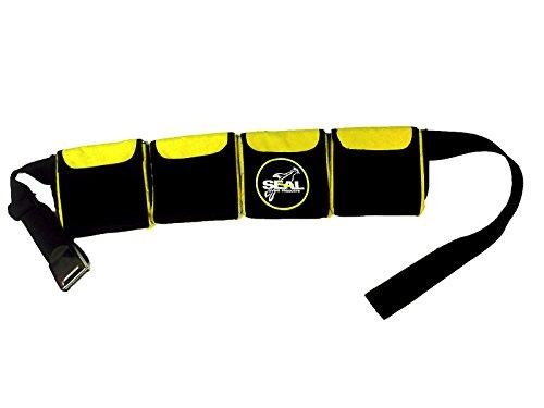 Seal Supplies ltd Ceinture de Musculation pour plongée sous-Marine 4 Poches Taille S 71-97 cm Jaune