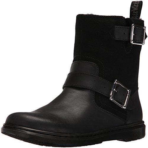 Dr Martens - Gayle Fur Lines Biker Boots In Black, 6 UK...