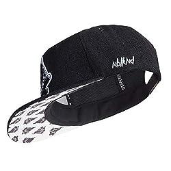 Nebelkind Unisex Snapback Cap Black Denim Kappe Schwarz One Size