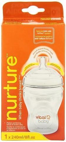 Vital Baby Nurture Breast-Like Feeding Bottle, 8 Ounce by Vital Baby