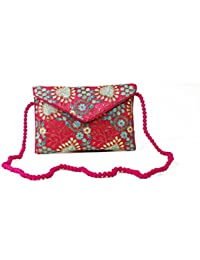Homeart9 Women's Sling Bag (Embridered Handicraft Traditional Sling Bag,Multi-Coloured) - B077HLXYCD