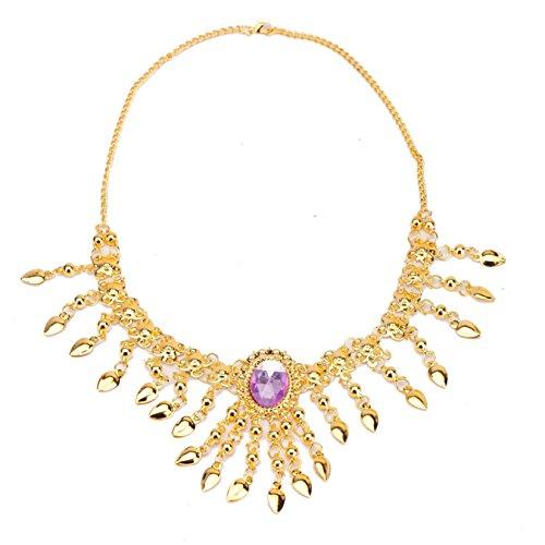 Danse du ventre Tribe Lndian femmes Fashion Crystal Necklace purple