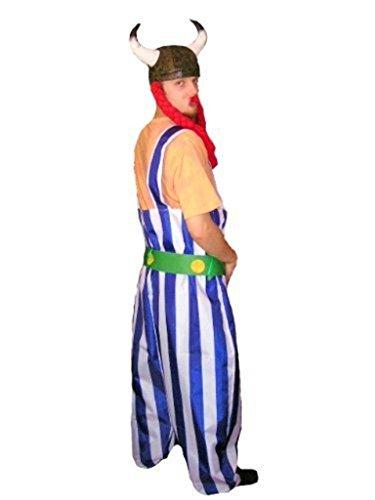 TO08 Gallier Kostüm INKLUSIVE Helm und Zöpfen ! Einheitsgröße M Gallierkostüm Gallierkostüme - 4