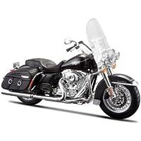 Maisto Harley-Davidson FLHRC Road King Classic 2013: Motorradmodell 1:12, mit Lenkung, beweglichem Ständer und frei rollenden Rädern, 19 cm, schwarz (532322)