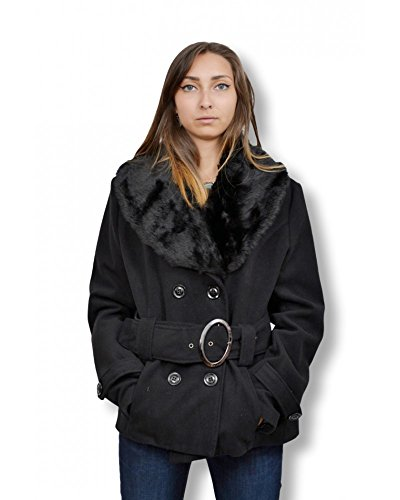 REINE MODE Damen Mantel Schwarz Schwarz XL