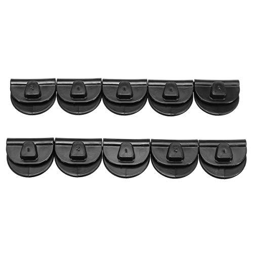 Viviance 10Pcs Left Battery Cover Clips Schwarz für Harley Sportster Xl883 Xl1200 48 72 04-17 -