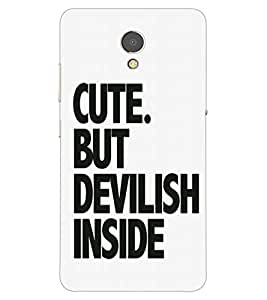ColourCraft Quote Design Back Case Cover for LENOVO P2