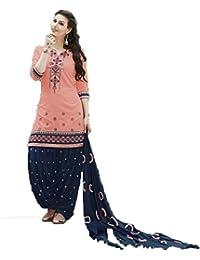 Special Mega Sale Festival Offer C&HPink Cotton Semi-Stitched Patiala Salwar Suits