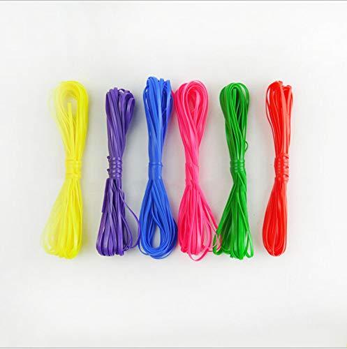 GUGU 228 m Kunststoff-Schnürband, Scoubidou String Gimp String Rexlace Kit für DIY Handwerk Kordel Schmuck Herstellung Lanyard Schlüsselanhänger Armband - String Kunststoff-handwerk