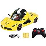 Toyhouse 1:16 5-Channel RC Ferrari with Open Door, Yellow