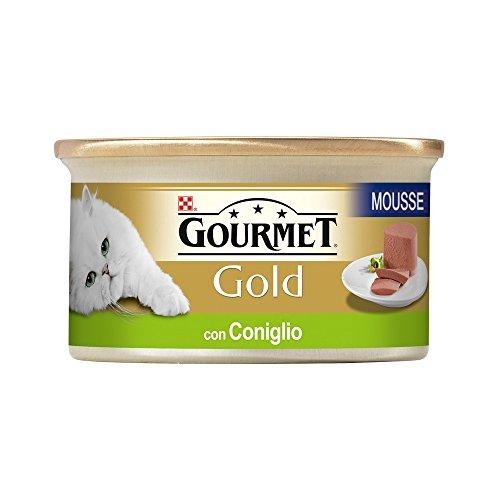 GOURMET GOLD Mousse con conejo guisado de gato gr 85 - Comida mojado d
