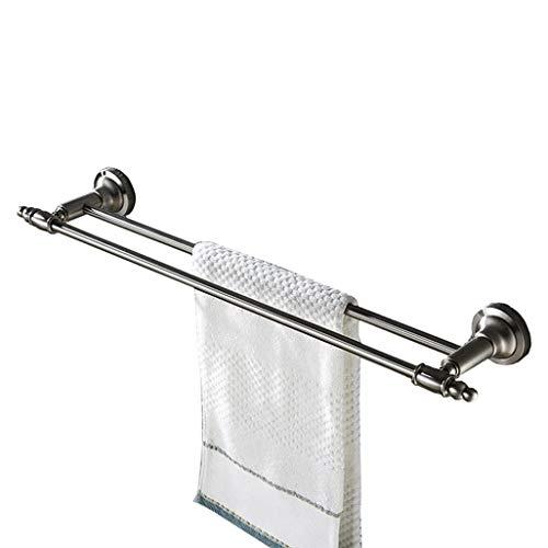 Qiusa Handtuchhalter SUS 304 Edelstahl-Doppelhandtuchhalter Wandmontierter Handtuchhalter für Bad oder Küche, Handtuchhalter aus gebürstetem Finish (Farbe : -, Größe : -)