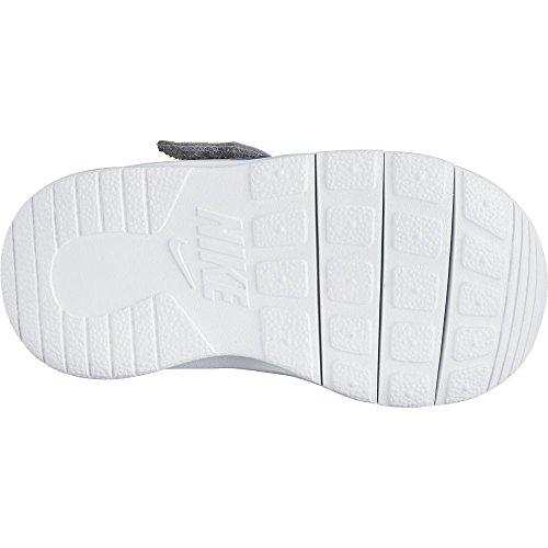 Nike Unisex – Bimbi 0-24 Tanjun (Tdv) Scarpe da Ginnastica Basse Azzuro-Bianco-Grigio