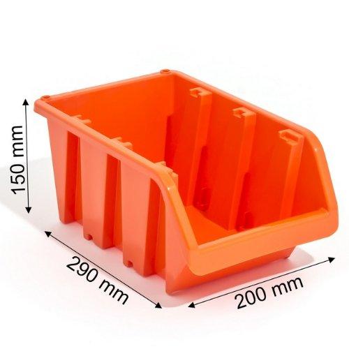 3 x Boîte IN Box bac a bec rouge atelier vis clou 290 x 200 x 150