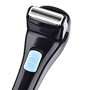 Back Shaver Electric Razor for Men Back Hair Body Groomer Trimmer with Foldable Long Handle with Blade Cleaning Brush (Not Included Batteries)