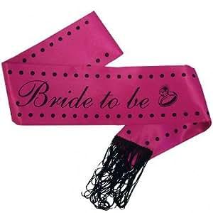 """Schärpe """"Bride to be"""" - Schärpe in Rosa mit pinkem Schriftzug, für den perfekten Junggesellinnenabschied"""