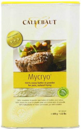 Mycryo Kakaobutter in Pulver - Form von Callebaut. Als gelatineersatz in Konditorei oder zum Braten. (600 Gramm)