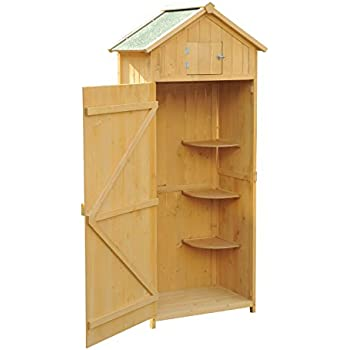 Mini Wooden Store Small Outside Storage Unit With Shiplap