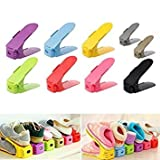 Home Shoes Base Space Saver Rack Double Adjustable Layer Shoes Storage Hanger