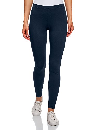 oodji Ultra Donna Leggings Basic Blu IT 42 / EU 38 / S