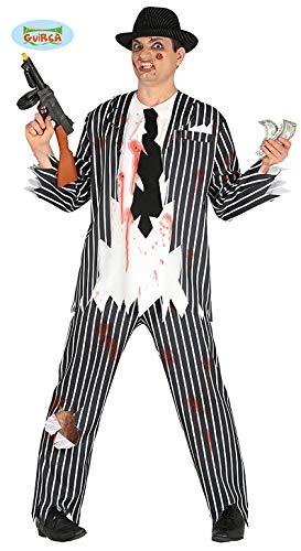 Zombie Gangster Kostüm für Herren Gr. M - L, Größe:M (Zombie Gangster Kostüm)