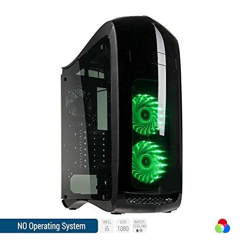 Sedatech PC Gaming Ultimate con watercooling, Intel i5-8600K 6x 3.60Ghz (max 4.3Ghz), Geforce GTX 1080 8Gb, 32 Gb RAM DDR4 3000Mhz, 500 Gb SSD, 3 Tb HDD, USB 3.1, Wifi, CardReader, HDMI2.0, Risoluzione 4K, DirectX 12, VR Ready, Alim 80+. Computer Desktop senza OS