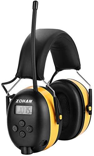 Digital Radio Gehörschutz, ZOHAN Ohrenschützer Kopfhörer mit FM-AM Stereo-Radio, Perfekt für Arbeits-und Industrie, SNR 31db (Gelb) MEHRWEG