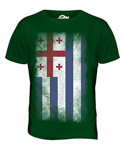 CandyMix Adscharien Verblichen Flagge Herren T Shirt Flaschengrün