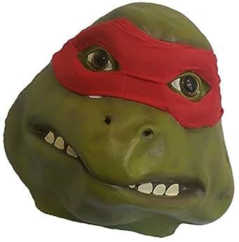 Caoutchouc en Latex de tête de Tortue Ninja Raphael Masque (Rouge)