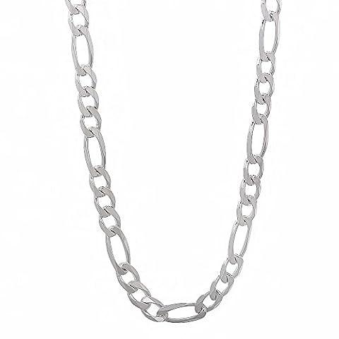 Italienische gefertigte 4,5mm feste 925 Sterling Silber Figaro Link