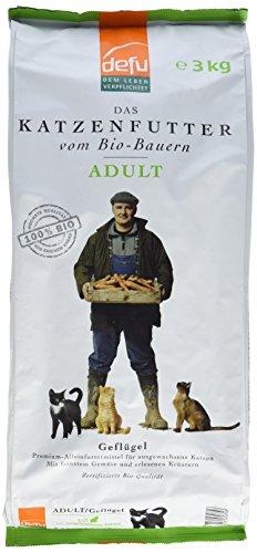 defu Bio Trockenfutter Geflügel für Katzen 3 kg, 1er Pack (1 x 3 kg)