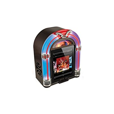 ION Jukebox - Altavoz con puerto dock (5 W, iPad, iPhone, iPod), negro