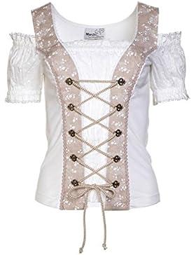 Michaelax-Fashion-Trade Marjo - Damen Trachten Bluse, Elisa I (124300-123400)