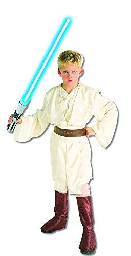 Star Wars Deluxe Obi-Wan Kenobi Kostüm Kinderkostüm Macht Lichtschwert Gr. S - L, ()