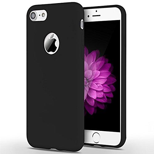 2 x iPhone 7 Hülle, SpiritSun Transparent Handy Hülle für Apple iPhone 7 (4.7 Zoll) Weich TPU Silikon Schutzhülle Niedlichen Muster Schale Tasche Ultradünnen Etui Anti-stoß Kratzfeste Case Cover – Rosa + Schwarz - 6