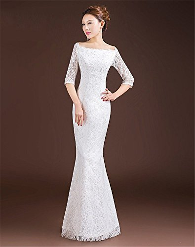 Drasawee - Robe - Moulante - Femme Blanc