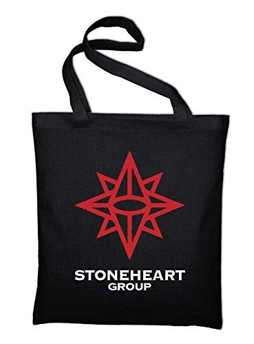 Stoneheart Group Logo Jutebeutel, Beutel, Stoffbeutel, Baumwolltasche, schwarz Schwarz