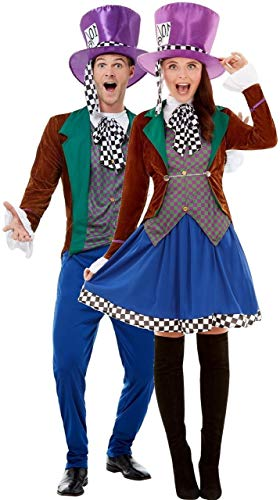 Im Alice Wunderland Klassische Kostüm - Fancy Me Damen und Herren, klassischer Hutmacher Alice im Wunderland, TV-Buch-Film, Halloween-Kostüme
