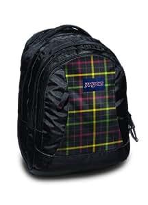 Jansport Essence Backpacks - Black/Rasta London Plaid