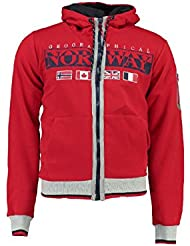 Geographical Norway - Sweat à capuche Enfant Geographical Norway Gunit Rouge