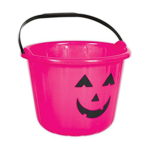 Amscan Pink Kürbis Halloween Kunststoff Trick or Treat Eimer X - Halloween Kürbis Eimer Kunststoff