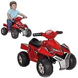 FEBER Racy - Quad Electrique pour Enfants de 18 mois à 3 ans, 6V, Rouge (Famosa 800011252)