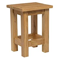 Hallowood Waverly Small Side Coffee Table in Light Oak Finish | Solid Wooden Slim Occasional/Lamp/End/Console/Bedside Stand
